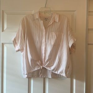 Madewell tied button down shirt